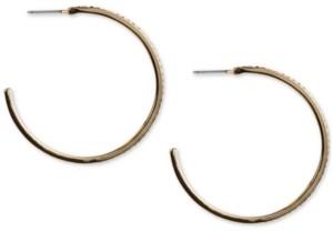 """Rachel Roy Gold-Tone Medium Pave C-Hoop Earrings, 2"""""""