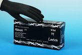 Disposable Latex Tattoo Gloves Pack of 100 Black Size Large by Maimed