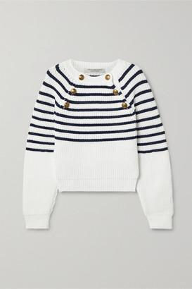 Philosophy di Lorenzo Serafini Striped Knitted Sweater - White