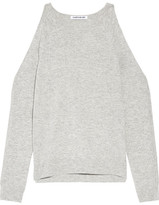 Elizabeth and James Rae Cutout Stretch-knit Sweater - Light gray