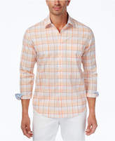 Tasso Elba Men's Plaid Cotton Shirt, Created for Macy's