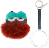 Fendi Monster Mink Fur Keyring - women - Leather/Mink Fur - One Size