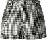 RED Valentino pied-de-poule shorts - women - Polyester/Acetate/Virgin Wool - 38