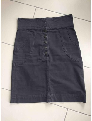 Maje Anthracite Denim - Jeans Skirt for Women