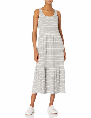Daily Ritual Cozy Knit Rib Tiered Tank Dress