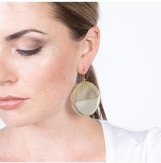Kenneth Jay Lane Round Disc Fishhook Pierced Earrings