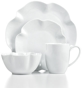 The Cellar Whiteware Ruffle 4-Piece Place Setting