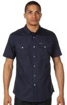 Ecko Unlimited SS Solid Poplin Military Shirt (True Navy) - Apparel