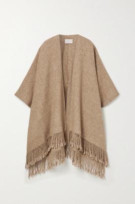 LAUREN MANOOGIAN Fringed Alpaca And Pima Cotton-blend Wrap - Camel