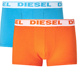 Diesel Shawn Boxer Trunks, Pack Of 2, Blue/orange