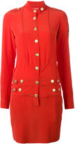Pierre Balmain band collar buttoned dress - women - Silk - 36