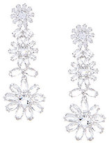 Kate Spade Crystal Bouquet Statement Earrings