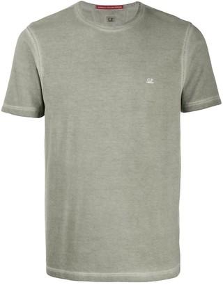 C.P. Company acid wash logo T-shirt