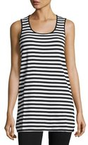 Joan Vass Striped Cotton Tank
