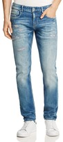 Scotch & Soda Tye Distressed Slim Fit Jeans in Aqua Vitae