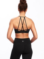 Old Navy Go-Dry Strappy Light Support Sports Bra for Women