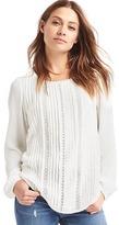 Gap Pretty lace pintuck blouse