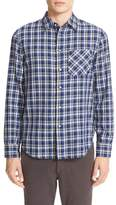 Rag & Bone Plaid Beach Trim Fit Double Face Sport Shirt