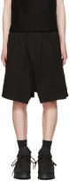Julius Black Wrap Layered Shorts