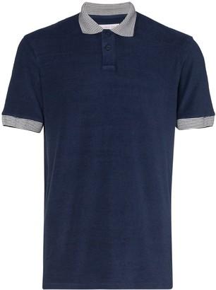 Orlebar Brown Jarrett striped-collar polo shirt