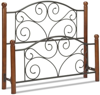 Kotter Home Ariette Metal and Wood Headboard and Footboard
