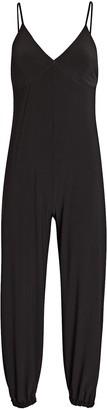 Norma Kamali Slip Jog Sleeveless Jersey Jumpsuit