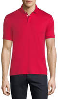 Emporio Armani Basic Textured Polo Shirt, Red