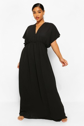 boohoo Plus Plunge Beach Maxi Dress