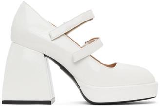 Nodaleto White Patent Bulla Babies Heels