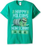 Sesame Street Men's Oscar Now Scram Ugly Christmas T-Shirt