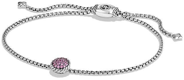 David Yurman Ch'telaine Petite Bracelet with Pink Sapphire
