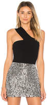 Bailey 44 Ceremonial One Shoulder Top in Black. - size L (also in S,XS)