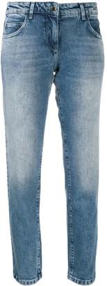 Patrizia Pepe Stonewashed Straight Jeans