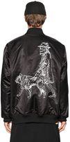 Yohji Yamamoto New Era Printed Nylon Bomber Jacket