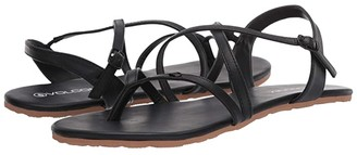 Volcom Strapped In Sandal (Black Out) Women's Shoes