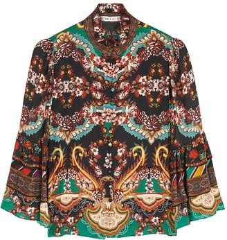 Alice + Olivia Liberty printed satin blouse