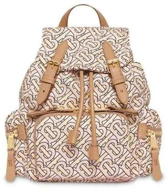 Burberry the small rucksack in monogram print nylon