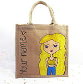 Hurley Sarah Personalised Hand Painted Dollybelles Gym Bag