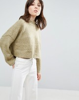 NATIVE YOUTH Boxy Loose High Neck Sweater