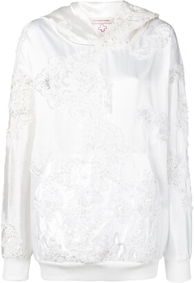 A.F.Vandevorst Wedding embroidery hoodie