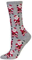 Hot Sox Waving Santa Socks