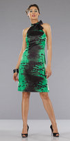 Black and Green Print Dresses