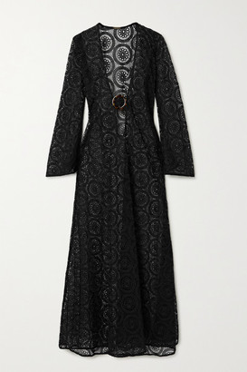 Dodo Bar Or Jane Crocheted Cotton Maxi Dress - Black