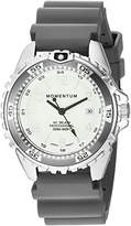 Momentum Women's Quartz Stainless Steel and Rubber Diving Watch, Color:Grey (Model: 1M-DN11LG1G)