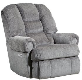 Ash Delmonte Recliner Red Barrel Studio Upholstery Color: Torino Ash, Reclining Type: Power, Motion Type: Wallsaver with Heat & Massage
