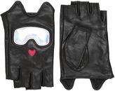 Karl Lagerfeld Ski Holiday Leather Fingerless Gloves