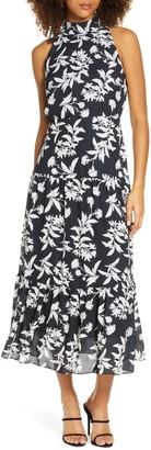 Sam Edelman Floral High Neck Maxi Dress