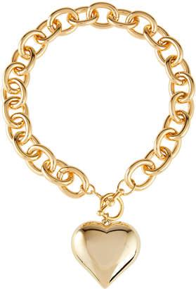 Kenneth Jay Lane Heart Pendant Toggle Necklace