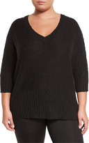 Soybu Brandi Dolman-Sleeve Tunic, Black, Plus Size