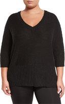 Soybu Brandi Dolman-Sleeve Tunic, Black, Plus Size